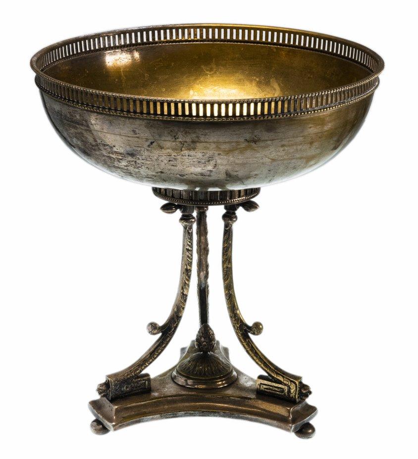 купить Ваза для фруктов в неоклассическом стиле, металл с серебрением, Западная Европа, 1890-1920 гг.