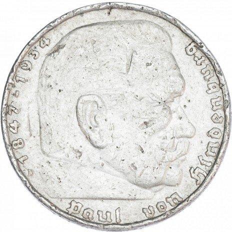 купить Германия Третий Рейх 5 рейхмарок 1937