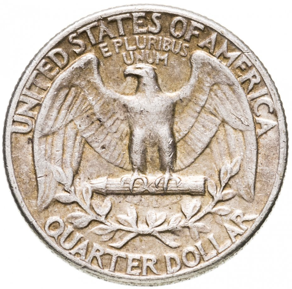 купить США 1/4 доллара (25 центов, quarter dollar) 1962 без знака монетного двора