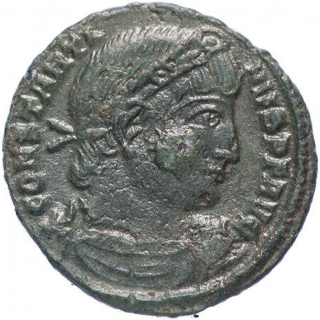 купить Римская Империя Константин I 306–337 гг фракция фоллиса (реверс: два воина стоят лицом друг к другу, между ними два штандарта)