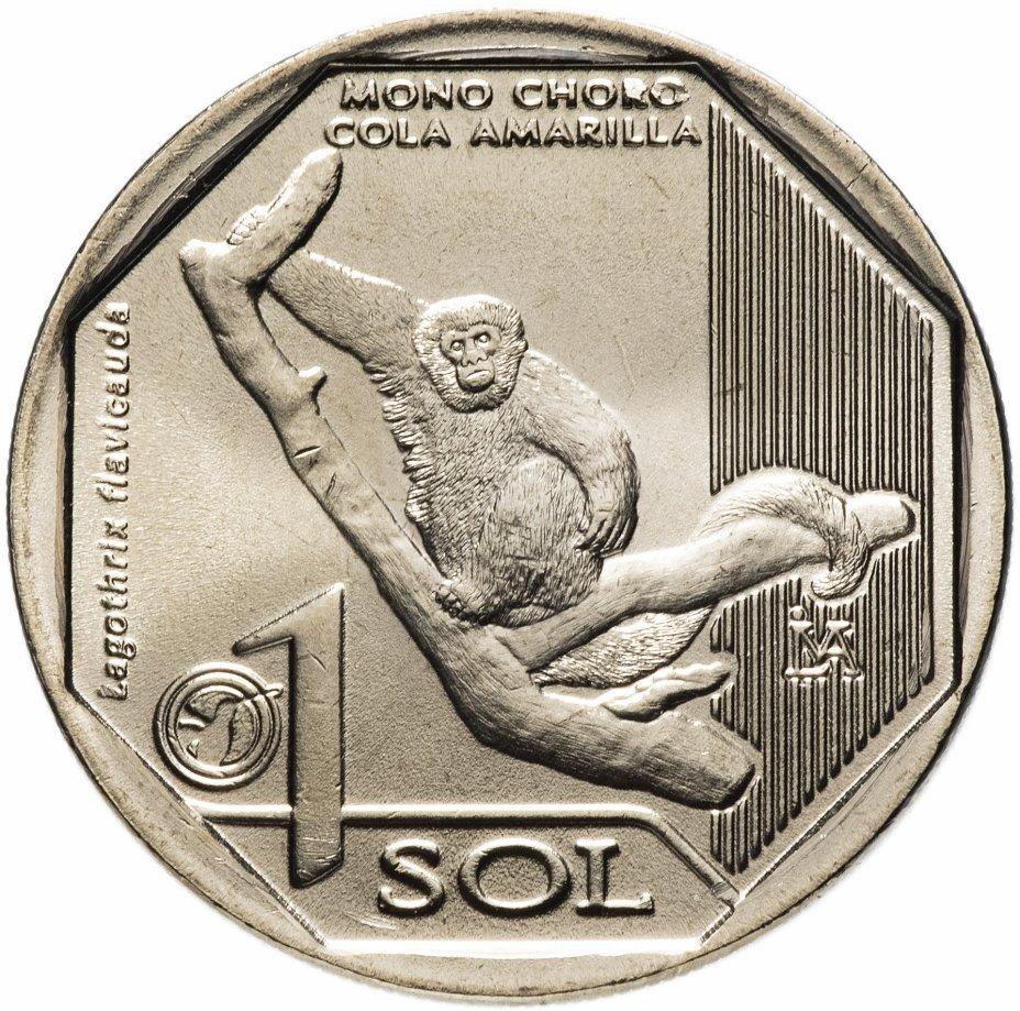 купить Перу 1 соль 2019 Желтохвостая обезьяна