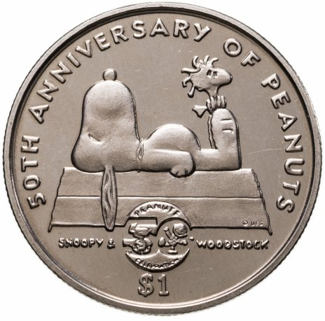 """купить Ниуэ 1 доллар (dollar) 2000 """"50 лет комиксу Peanuts"""""""
