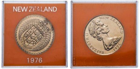 купить Новая Зеландия 1 доллар 1976 в футляре