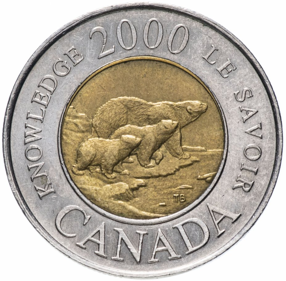 купить Канада 2 доллара (dollars) 2000