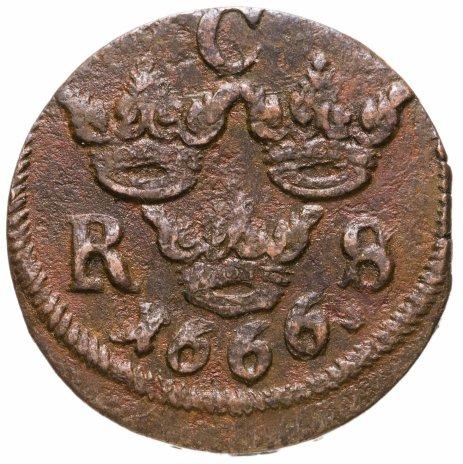 купить Швеция 1/6 эре (ore) 1666