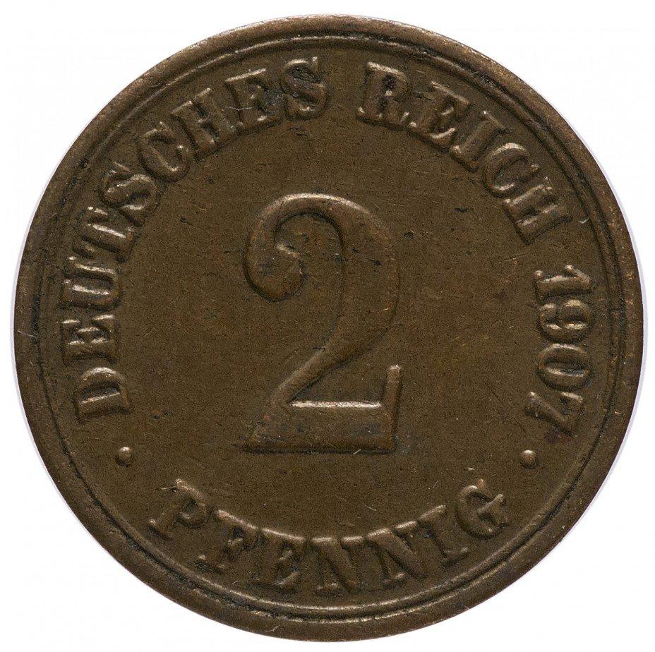 """купить Германия 2 рейх пфеннига 1907 """"A"""""""
