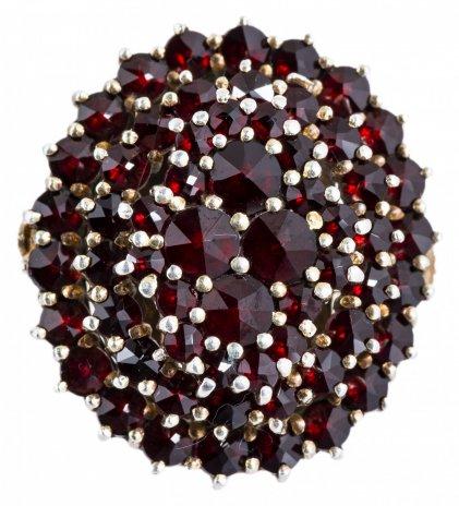 купить Кольцо с натуральными гранатами, серебро 900 пр., Западная Европа, 1960-2000 гг.