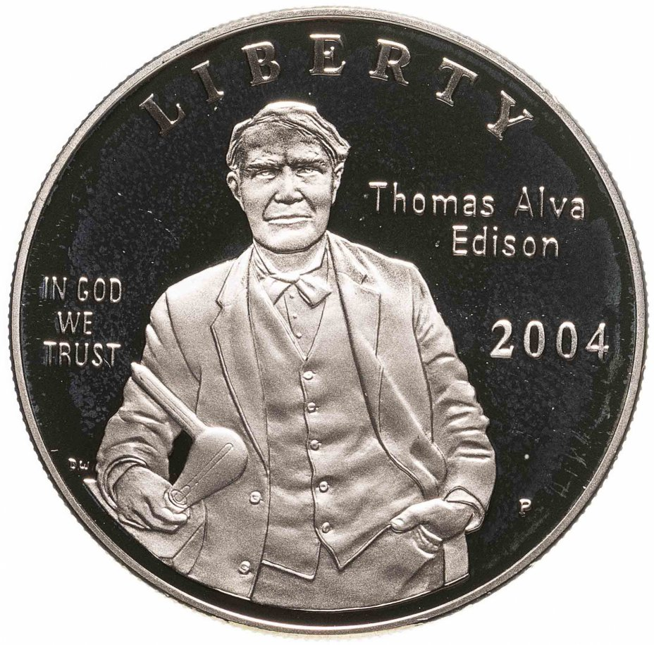 """купить США 1 доллар (dollar) 2004 """"125 лет лампочке Томаса Эдисона"""""""