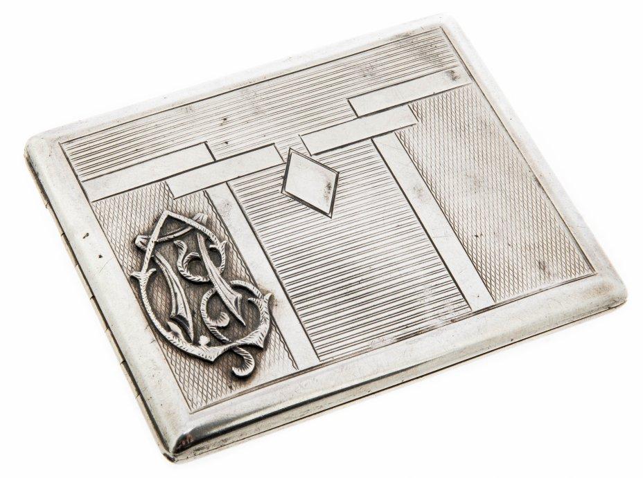 купить Портсигар с монограммой, серебро 835 пр., золочение, Австрия, 1940-1960 гг.