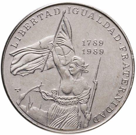купить Куба 1 песо 1989 200 лет Французской революции