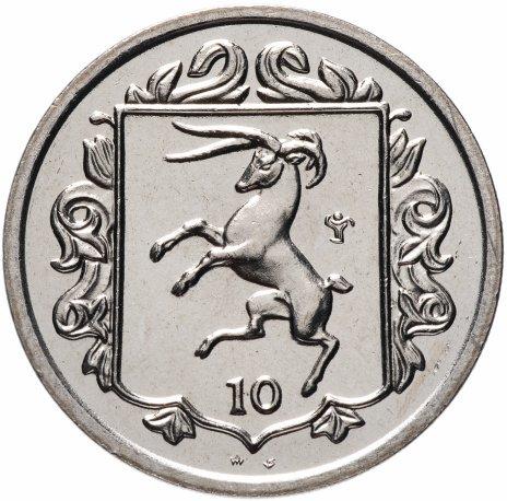 купить Остров Мэн 10 пенсов (pence) 1985
