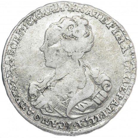 купить полтина 1726 московский тип, портрет влево, не разделяет легенду