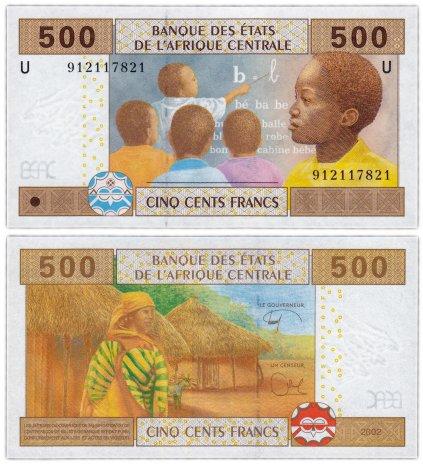 """купить Центральная Африка Камерун - 500 франков 2002 (2017) """"литера U"""" Р-206Ue полимер гибрид UNC"""