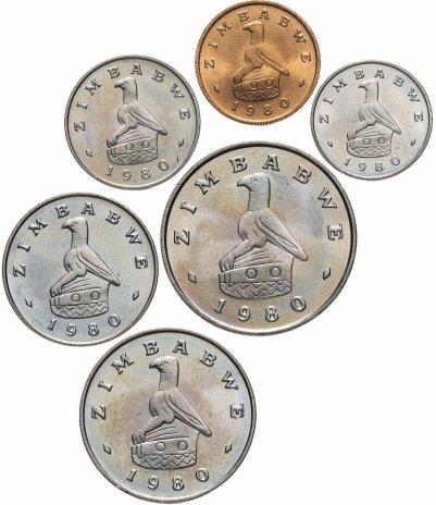 купить Зимбабве набор из 6 монет 1980 в буклете