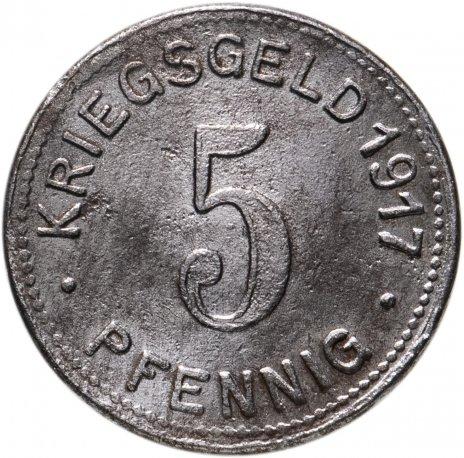 купить Германия, Эльберфельд 5 пфенниг 1917