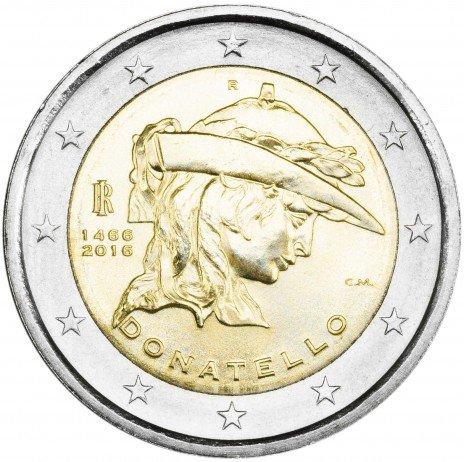 купить Италия 2 евро 2016 Донателло