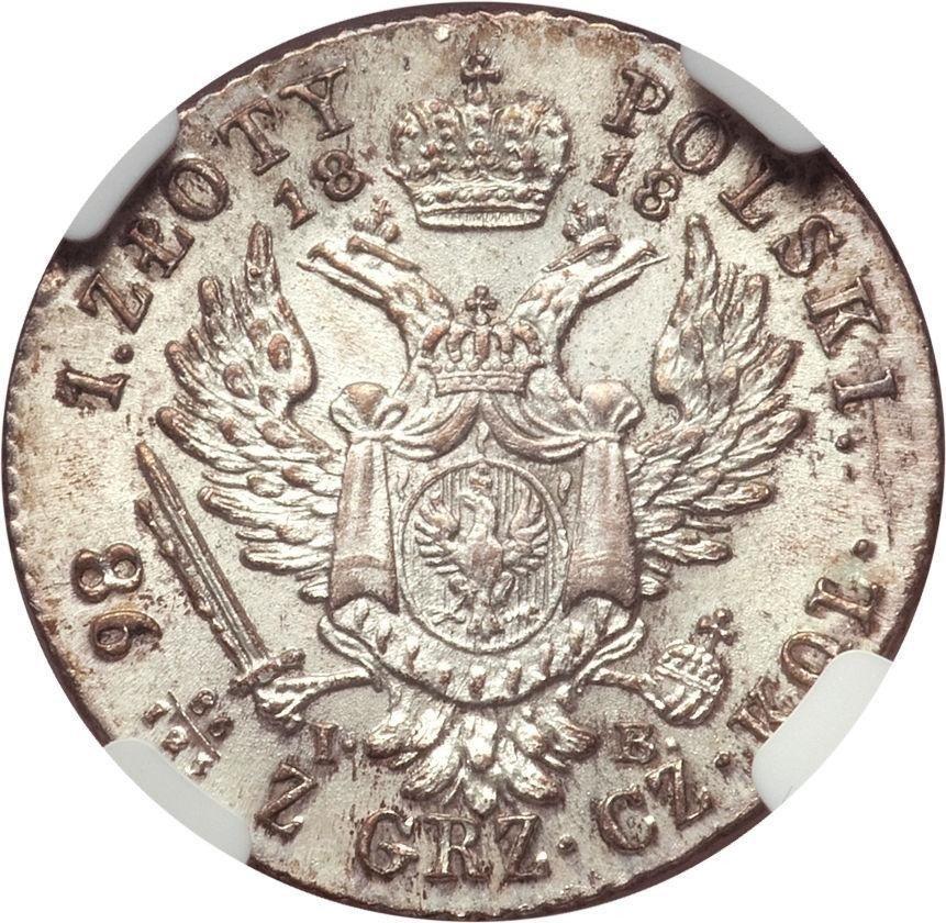 купить 1 злотый 1818 года IB