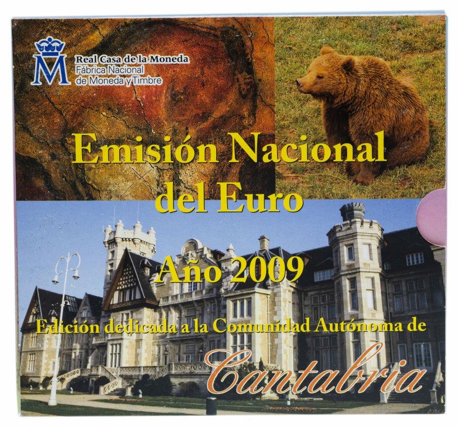 купить Испания  годовой набор монет евро 2009 (9 штук, UNC в официальном буклете Canarias с жетоном)