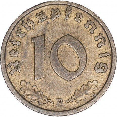купить Третий Рейх Фашистская Германия 10 рейхспфеннигов 1938