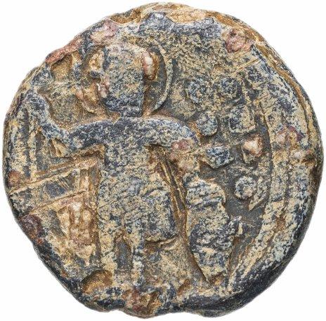 купить Византийская империя, анонимный выпуск, IX-XI век, моливдовул. (Святой Георгий)