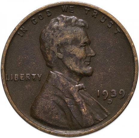 купить США 1 цент (cent) 1939 D