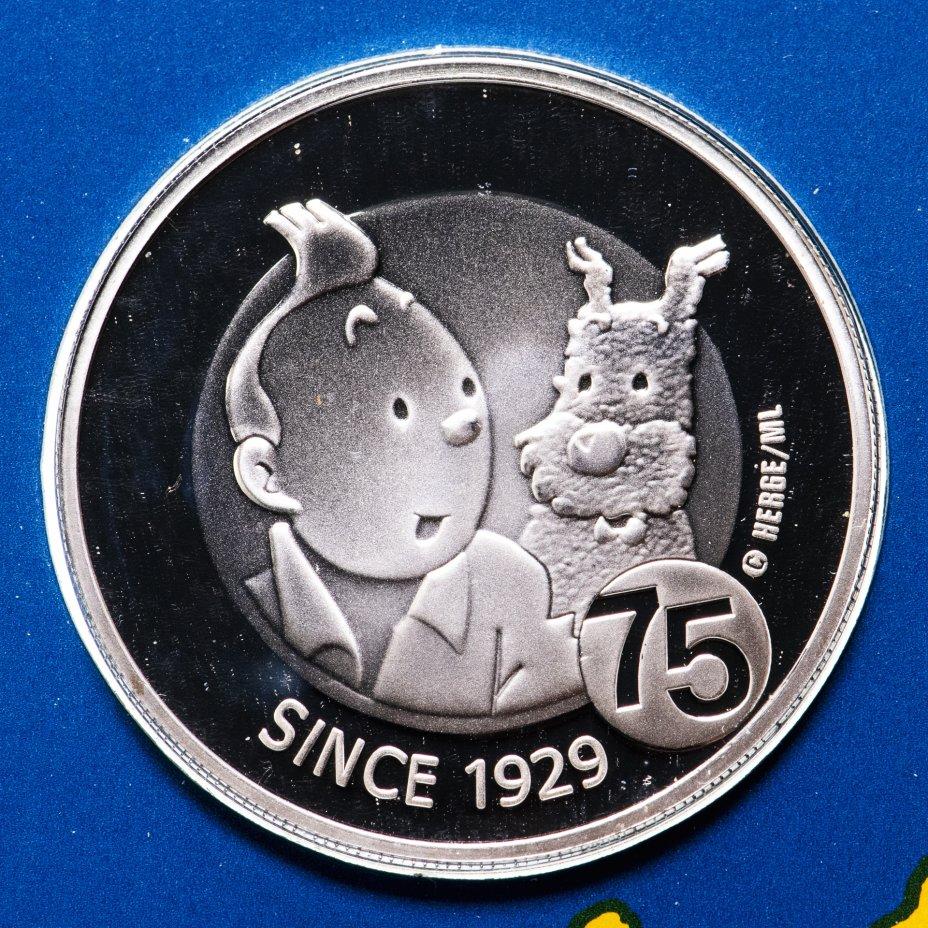 """купить Бельгия 10 евро (euro) 2004 """"Приключения Тинтина"""""""