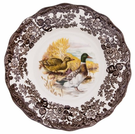 купить Тарелка декоративная с изображением уток, фарфор, деколь, фирма Palissy, The Royal Worcester group, Англия, 1970-1990 гг.