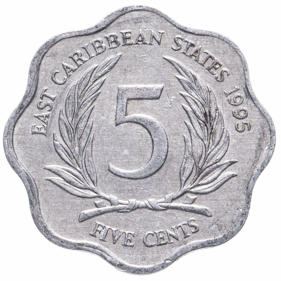 купить Восточные Карибы 5 центов (cents) 1981-2000, случайная дата