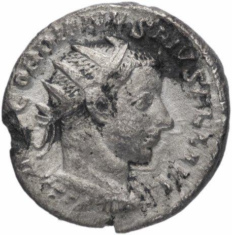 купить Римская Империя Гордиан III 238-244 гг антониниан (реверс: Сол стоит прямо, правая рука поднята, в левой руке шар)