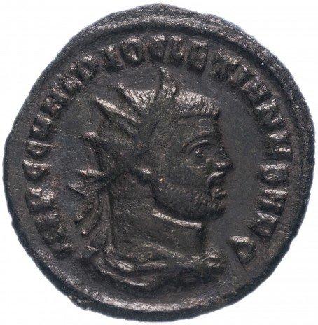 купить Римская Империя Диоклетиан 284–305 гг антониниан (реверс: император принимает Викторию на шаре от Юпитера)
