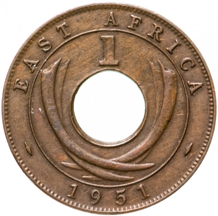 купить Британская Восточная Африка 1 цент (cent) 1951