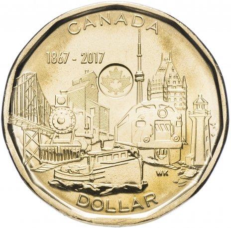 """купить Канада 1 доллар 2017 """"150 лет Конфедерации"""""""