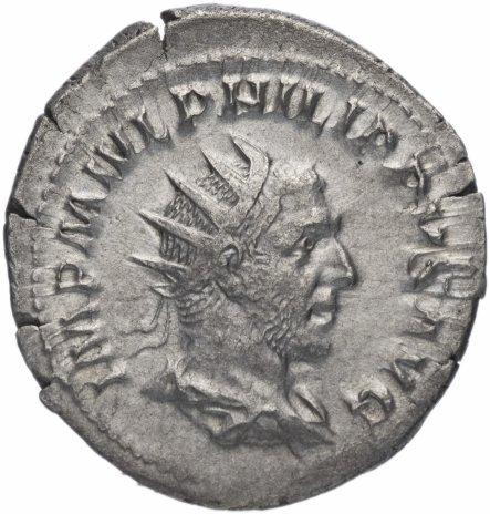 купить Римская Империя Филипп I Араб 244-249 гг антониниан (реверс: Эквитас стоит влево, в руках – весы и рог изобилия)