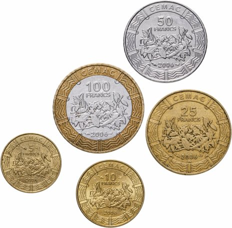 купить Центральная Африка (BEAC), набор из 5 монет 2006