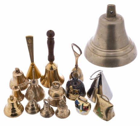 купить Набор из 16 колокольчиков, латунь, бронза, металл, Россия, Индия, Западная Европа, 1980-2015 гг.