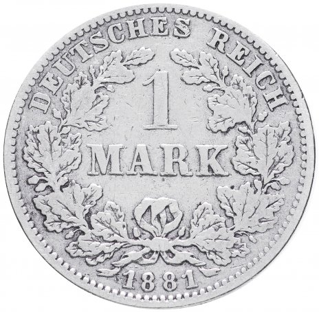 """купить Германия 1 рейх марка 1881 """"J"""""""
