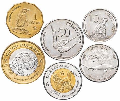 купить Галапагосские острова набор из 6 монет 2008