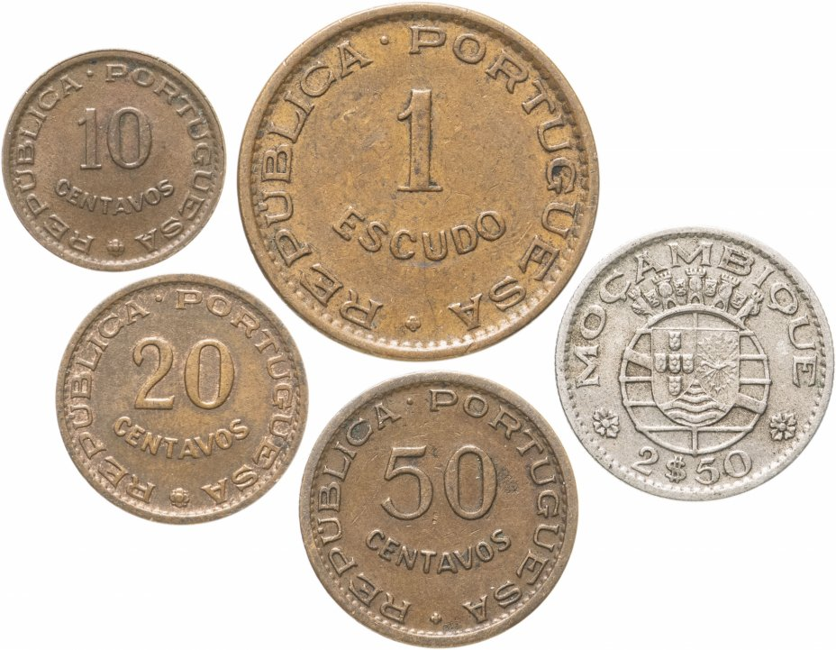 купить Мозамбик набор из 5 монет 1954-1974