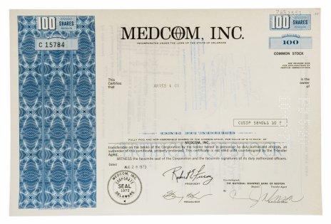 купить Акция США MEDCOM, INC., 1973 г.