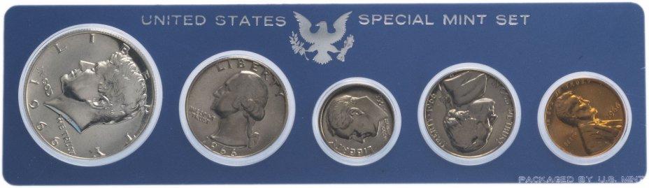 купить США Годовой набор монет 1966 Special Mint Set (5 штук) в упаковке (серебро)