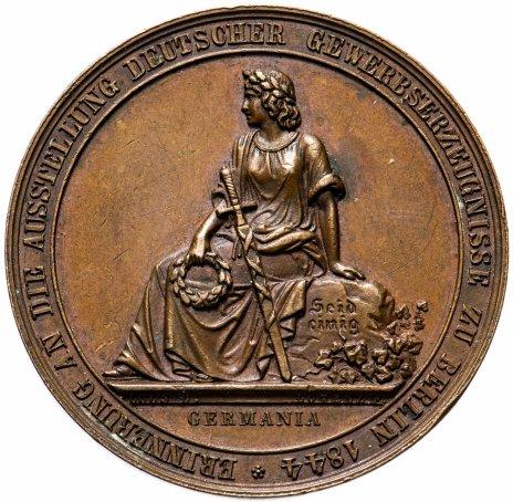 """купить Медаль """"Выставка немецкой промышленной продукции в Берлине, 1844"""", Германия"""