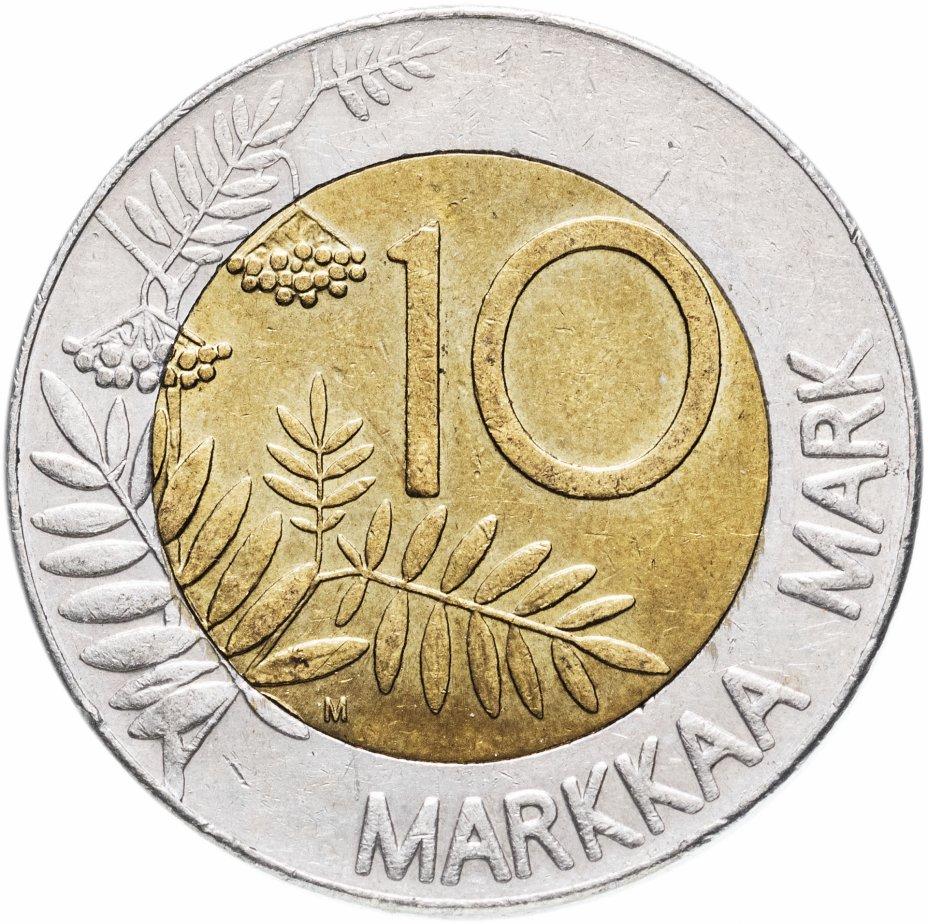 купить Финляндия 10 марок (markkaa) 1993-2001, случайная дата