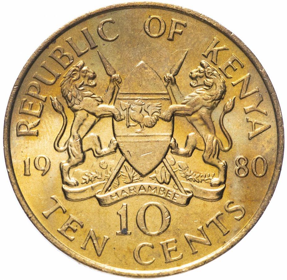 купить Кения 10 центов 1980