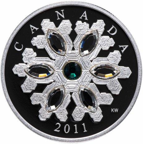 """купить Канада 20 долларов 2011 """"Снежинка изумруд"""", в коробке с сертификатом"""