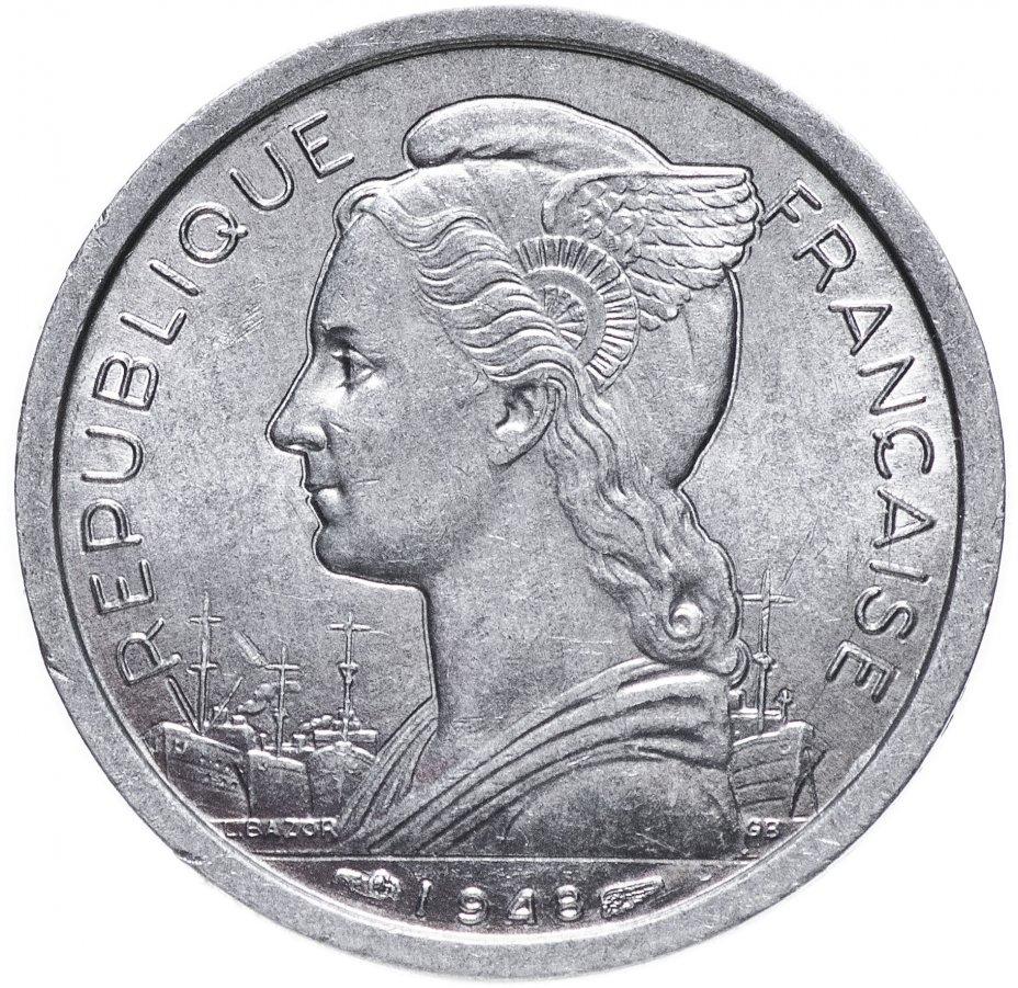 купить Реюньон 1 франк (franc) 1948