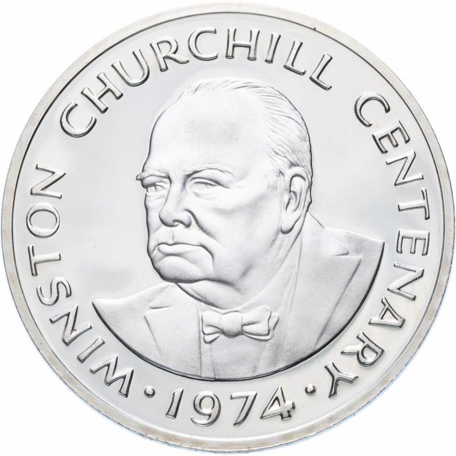 """купить Тёркс и Кайкос 20крон (crowns) 1974 """"100 лет со дня рождения Уинстона Черчилля"""""""