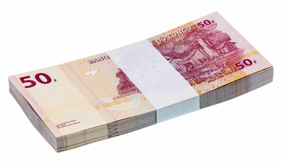 купить Корешок (100шт) Конго 50 франков 2013