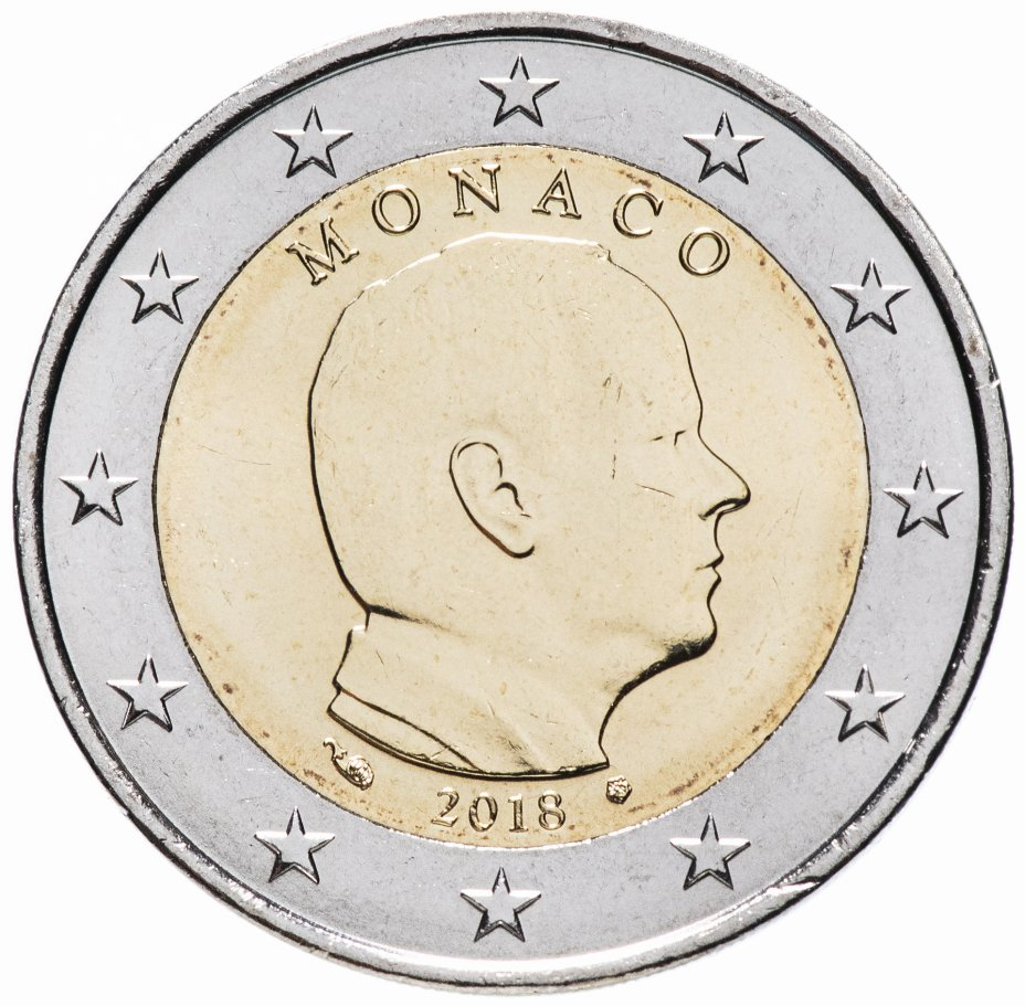 купить Монако 2 евро 2018 Обычная