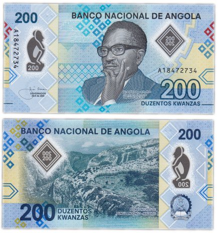 купить Ангола 200 кванза 2020 (Pick **) пластик