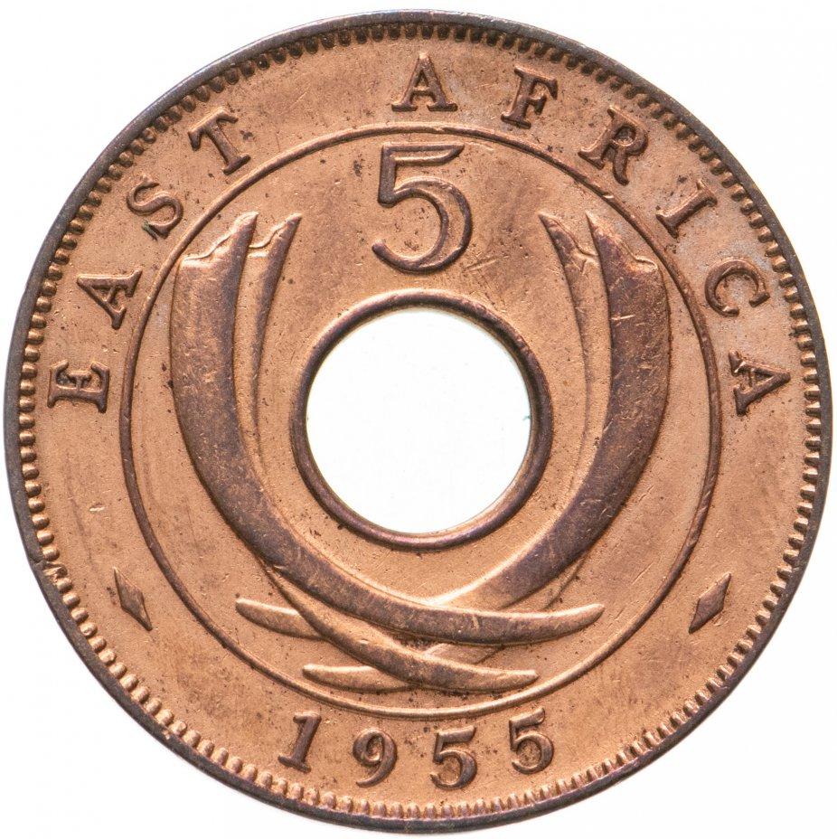 купить Британская Восточная Африка 5 центов (cents) 1955